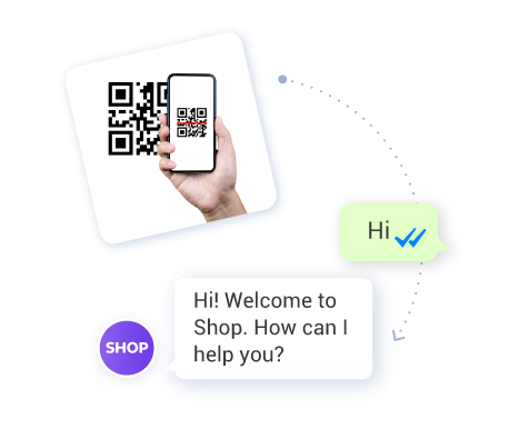 Example of starting a whatsapp chat with a QR code