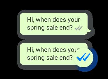 Example of message seen status on WhatsApp