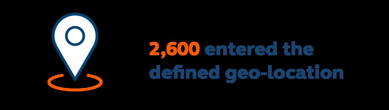 2,600 entered Citrus' defined geo-location