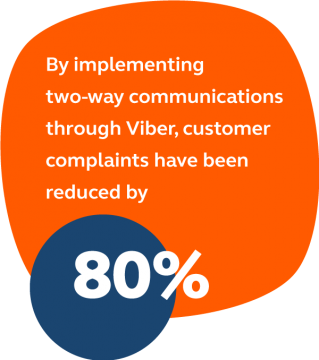Viber helped reduce customer complaints for VTB Bank by 80%