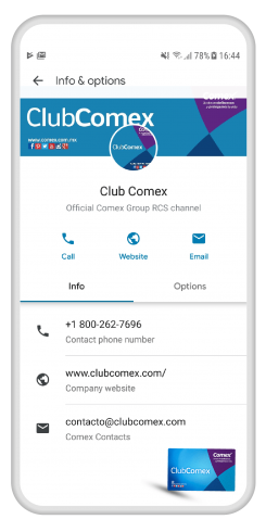 Club Comex RCS Channel