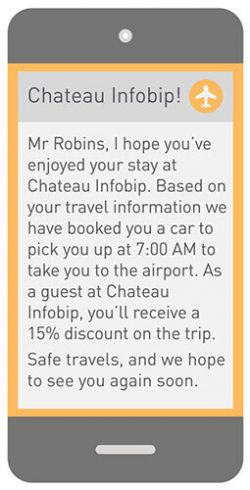 hotel airport sms