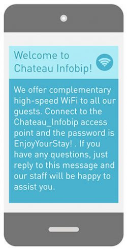 wifi sms message hotel