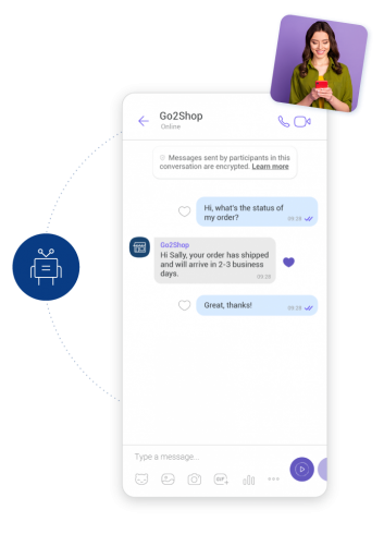 cloud based contact center example showing automated customer service for FAQs