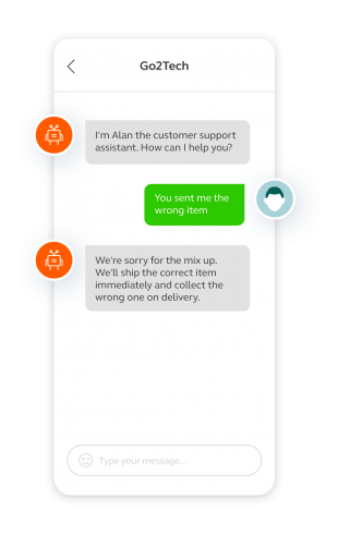 A key chatbot business benefit is that bots deliver a fast, superior customer experience