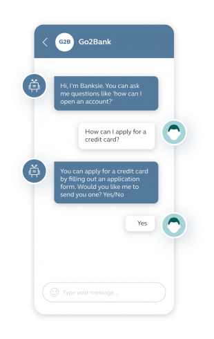 A key chatbot business benefit is cost efficiencies, with keyword chatbots like this able to reduce the time and cost required to resolve common queries