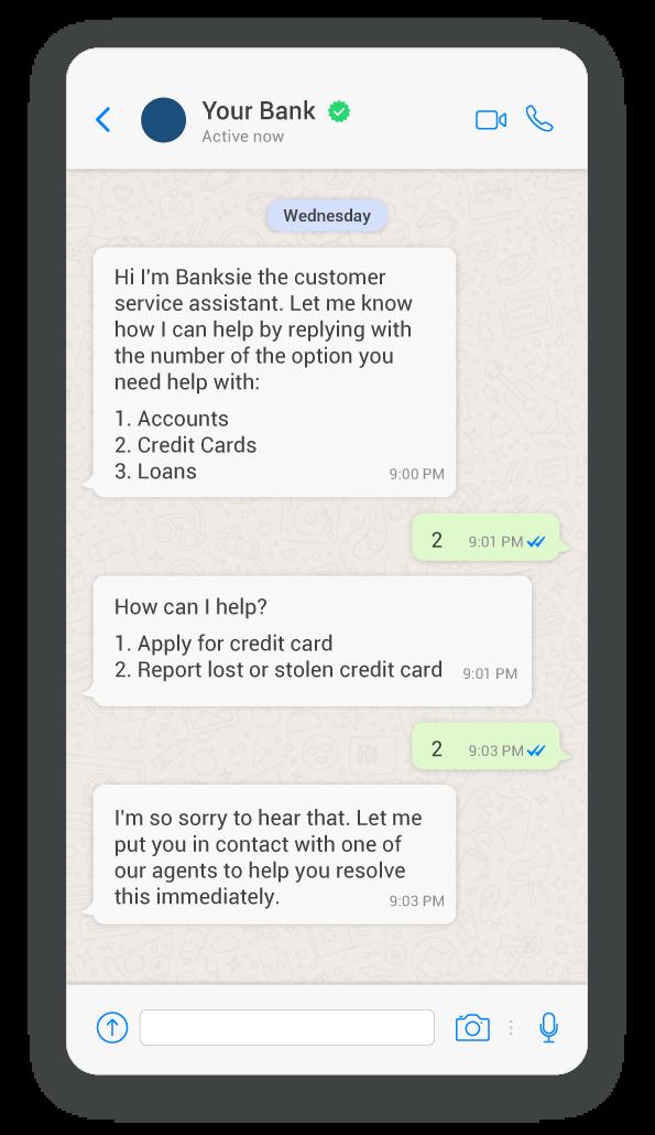 Using keyword chatbots for customer service
