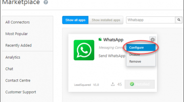Configure WhatsApp Connector