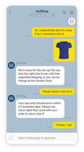 Example of providing customer support on KakaoTalk